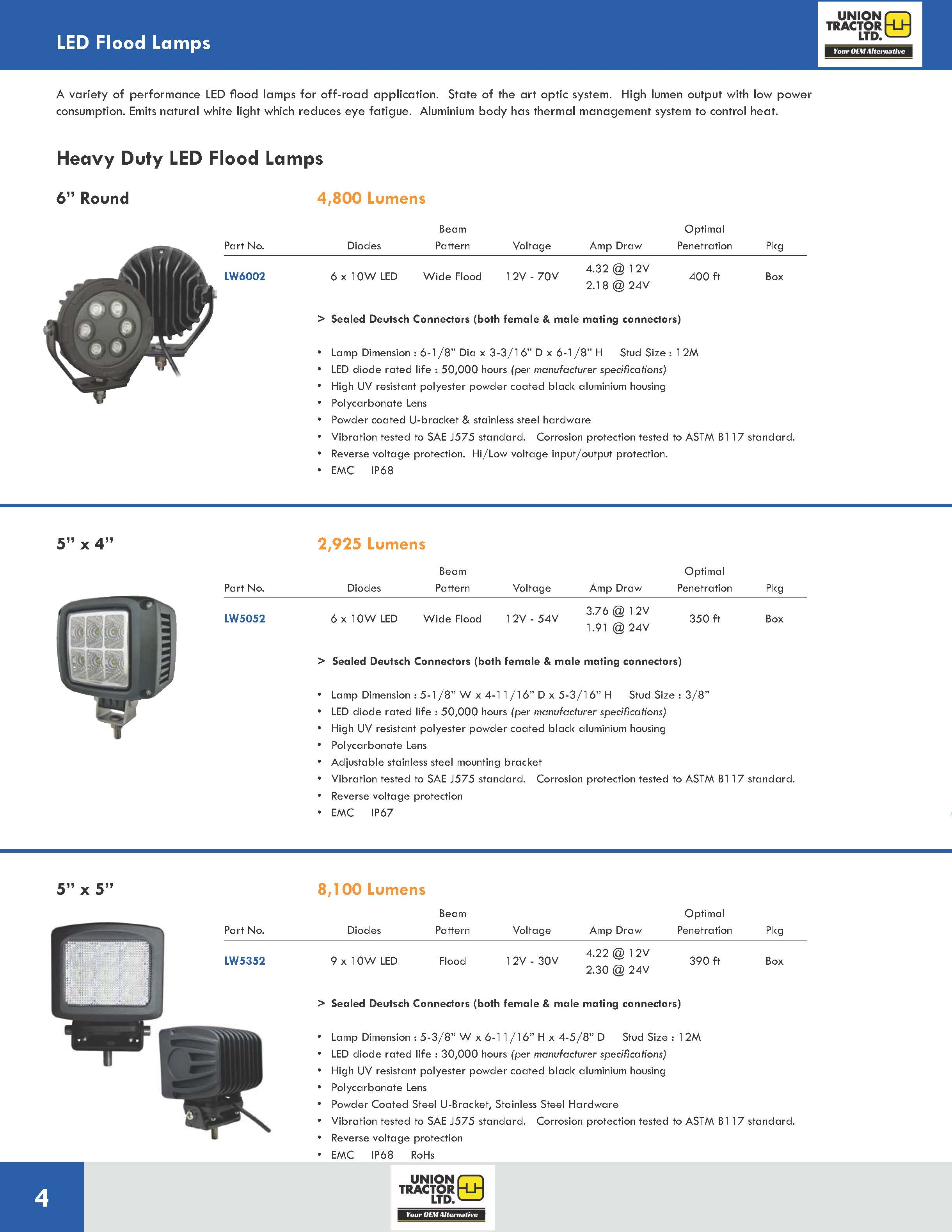 LED Flood Lamps UT_Page_1