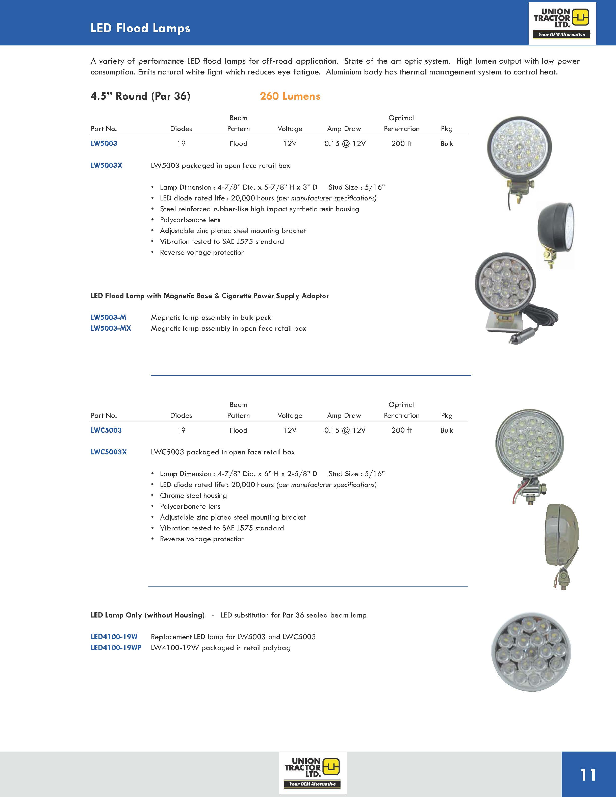 LED Flood Lamps UT_Page_8